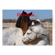 Valentine Horses Card