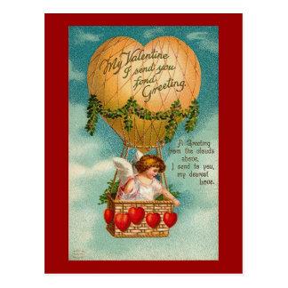 Valentine Hot Air Balloon (2) Postcard