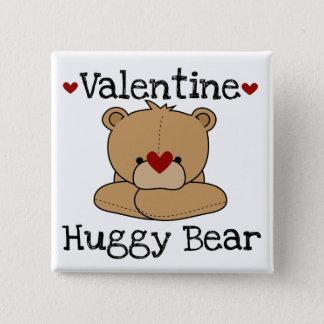 Valentine Huggy Bear Button