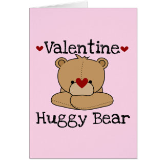 Valentine Huggy Bear Greeting Card