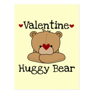 Valentine Huggy Bear Postcard
