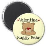Valentine Huggy Bear Round Magnet