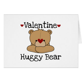 Valentine Huggy Bear T-shirts and Gifts Card