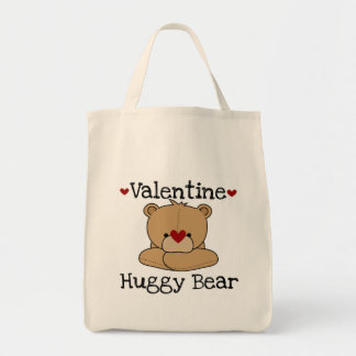 Valentine Huggy Bear T-shirts and Gifts Tote Bag