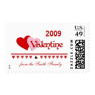 Valentine Hugs and Kisses Custom Postage