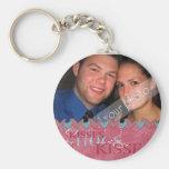 Valentine Hugs and Kisses  Photo Keychain