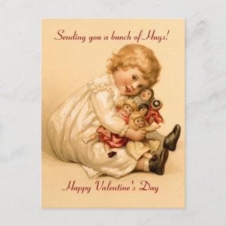 Valentine Hugs Holiday Postcard