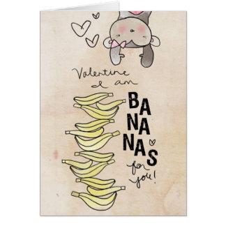 Valentine I am bananas by VOL25 Card
