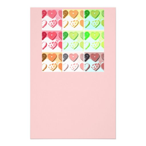 Valentine I Heart Cookies Custom Stationery