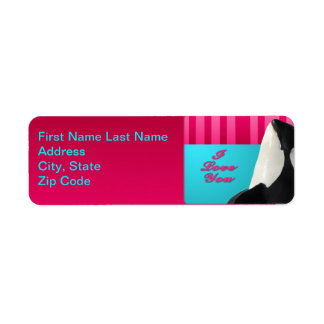 Valentine I love you orca whale address lable Custom Return Address Label