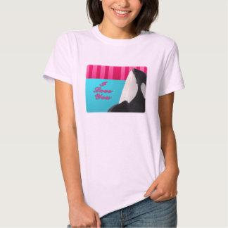 Valentine I love you orca whale T-shirt