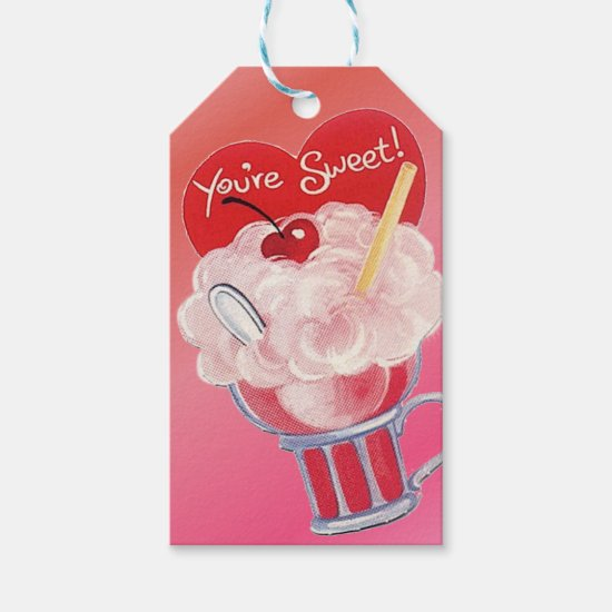 Valentine Ice Cream Soda Gift Tags