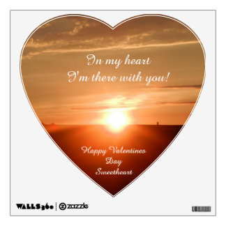 VALENTINE I'M WITH YOU heart sticker Wall Decals