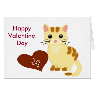Valentine Kathy Kitten Card