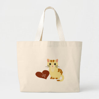 Valentine Kathy Kitten Large Tote Bag