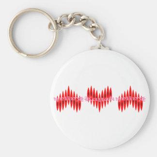 Valentine Kayak Hearts Basic Round Button Keychain