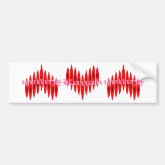 Valentine Kayak Hearts Bumper Sticker