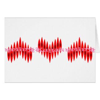 Valentine Kayak Hearts Card