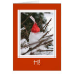 Valentine Kiss in Snow Greeting Cards