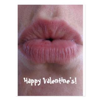 Valentine Kiss Postcard