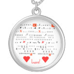 Valentine Kissees Personalized Necklace
