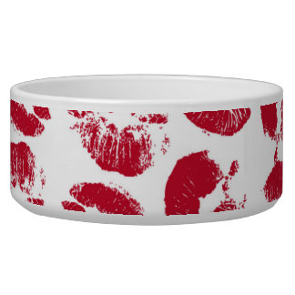 Valentine Kisses Pet Bowls