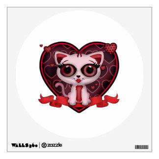 Valentine Kitten Wall Sticker