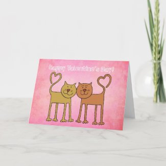 Valentine Kitties card