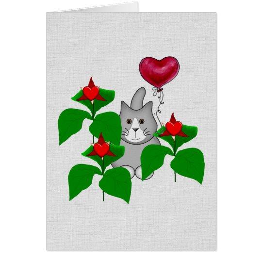 Valentine Kitty Cat Card