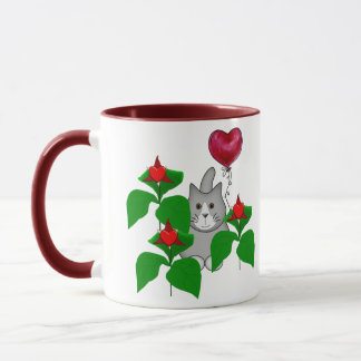 Valentine Kitty Cat Mug