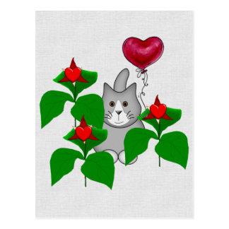 Valentine Kitty Cat Postcards