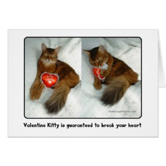 Valentine Kitty Heartbreaker Card