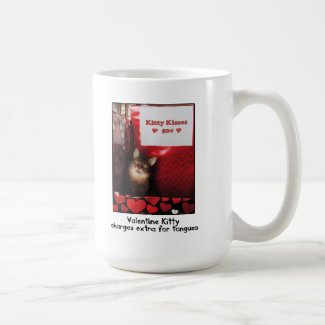 Valentine Kitty Kissing Booth Mug