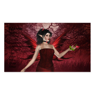 Valentine Lady Fairy Business Card Template