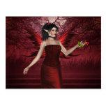 Valentine Lady Fairy Postcard