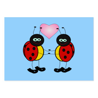 Valentine Ladybugs in Love Mini Kids Cards