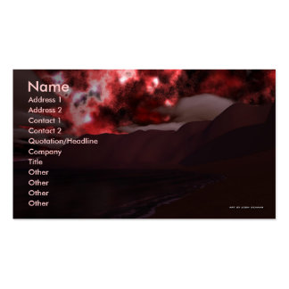 Valentine Lake Business Card Template