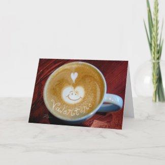 Valentine Latte card
