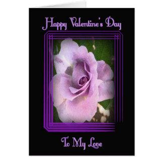 Valentine Lav Rosetex Card