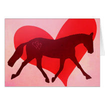 VALENTINE LENGTHEN TROT 5x7 Greeting Card