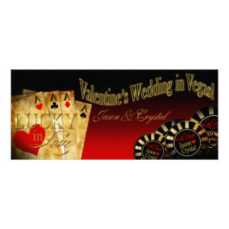 Valentine LINEN Las Vegas Deluxe Jason Crystal Red Personalized Invitations