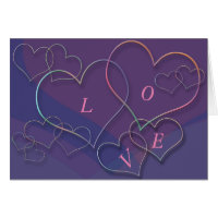 Valentine Linking Heart Outlines with Love Card