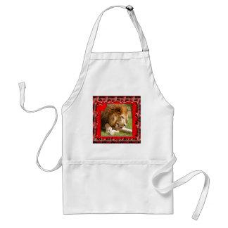 Valentine-Lion Adult Apron