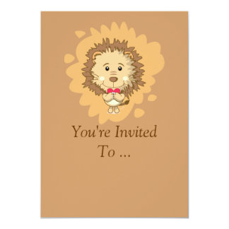 Valentine Lion Invitation