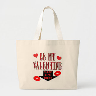 Valentine Lips Large Tote Bag
