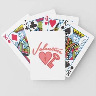 Valentine Lock Bicycle Playing Cards