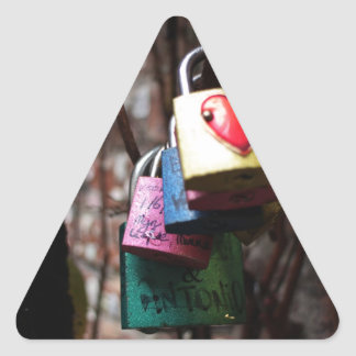 Valentine Locks Triangle Sticker