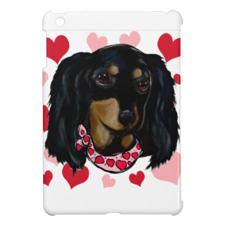 Valentine Long Haired Black Doxie Case For The iPad Mini