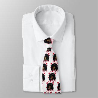 Valentine Long Haired Black Doxie Neck Tie