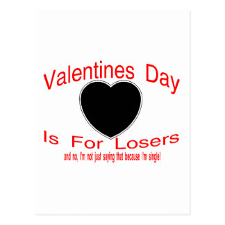 Valentine Loser Postcard